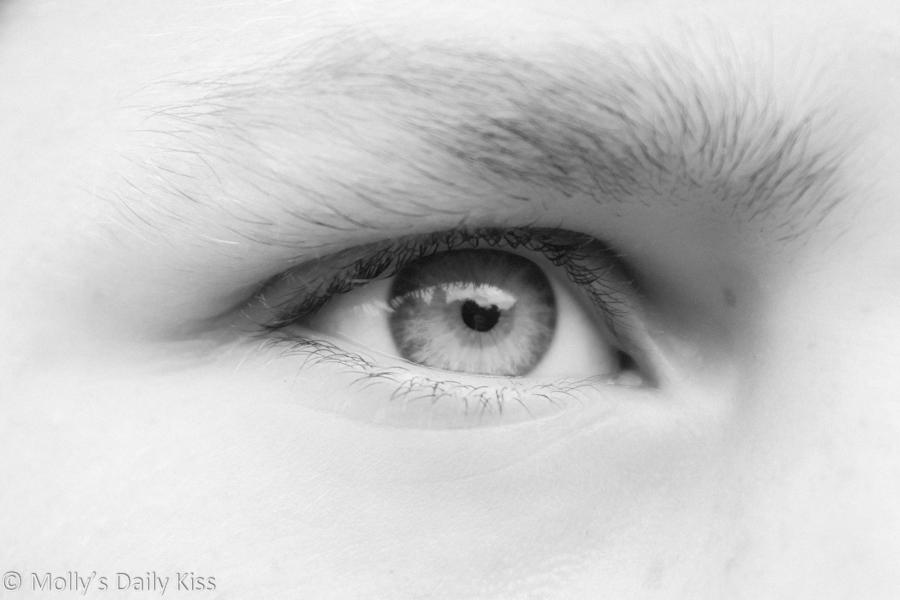 Close up of eye watching