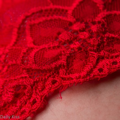 Red lace Panties on man