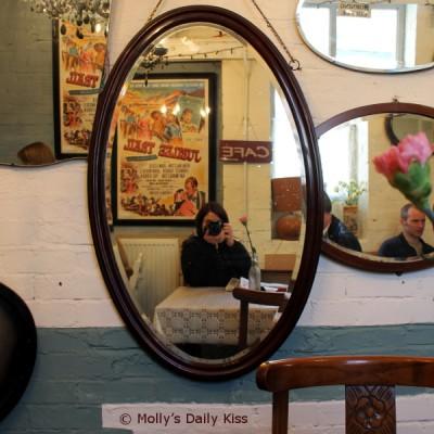 Self portrait in mirrors