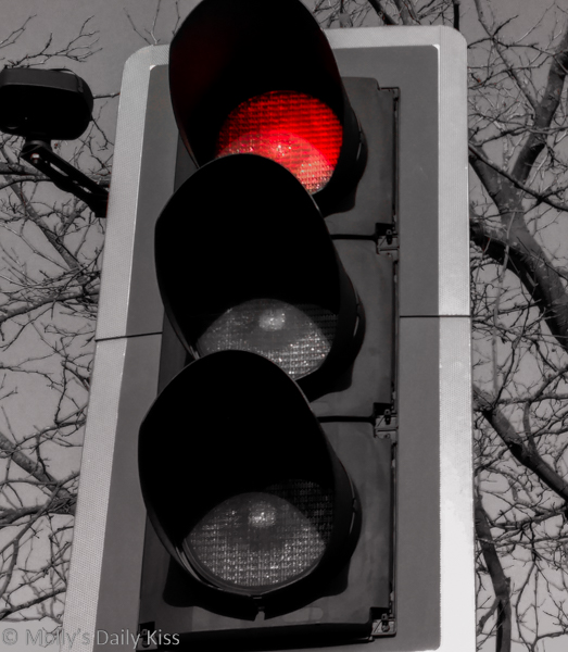 Red traffic light.