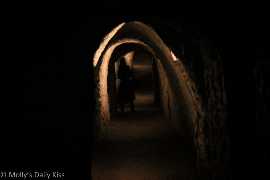 Ghostly figure in caves for the post know