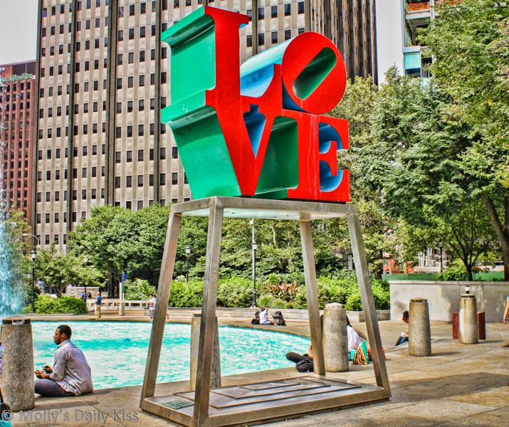 Love statue Philadelphia regret