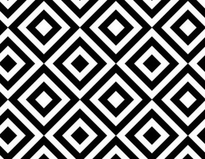 Black squares and white diamonds repeating pattern